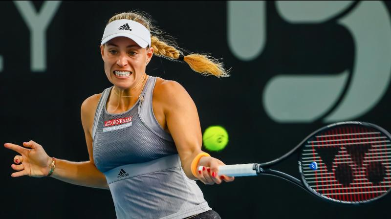 Former world number one Angelique Kerber swept past the challenge from China's Wang Qiang 6-1 6-3 to pick up her first win of the year at the inaugural Adelaide International on Monday. (Photo:AFP)