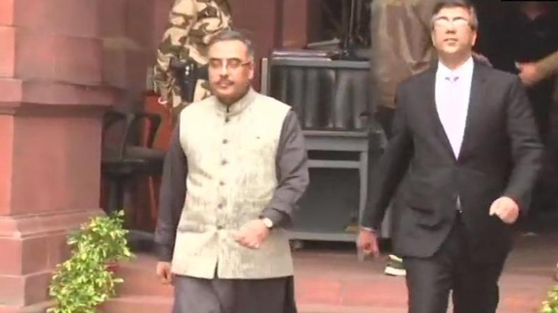Pakistan envoy Sohail Mahmood was called to the Foreign Ministry office by Foreign Secretary Vijay Gokhale who raised strong protest over the killing of the soldiers in Pulwama, official sources said. (Photo: ANI)