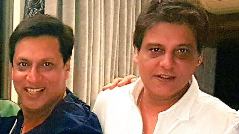 Madhur Bhandarkar with Abis Rizvi. (Photo: Twitter)