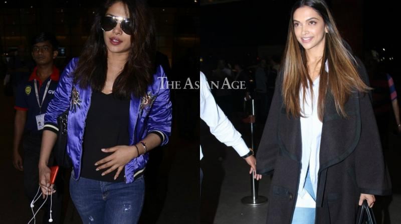 Priyanka Chopra, Deepika Padukone and several other celebrities were seen at the Mumbai airport on Sunday. (Photo: Viral Bhayani)