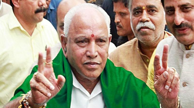Karnataka chief minister B S Yediyurappa. (ANI file photo)