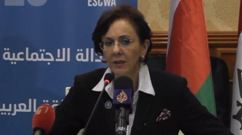 """UN official Rima Khalaf announced her resignation on Friday, saying the secretary general had asked her to withdraw a report in which she accused Israel of being an """"apartheid state"""". (Photo: YouTube)"""