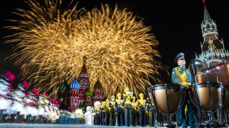 Spasskaya Tower International Military Music Festival is an annual military music event held in Moscow on Red Square. (Photos: AP)