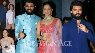 'Arjun Reddy' star Vijay Deverakonda has recently met 'Kabir Singh' actress Kiara Advani in Mumbai. Interestingly, the duo's meeting considered as 'Arjun Reddy's great meet with his on-screen ladylove Preethi. So, are they going to do a movie together? (Photos: Viral Bhayani)