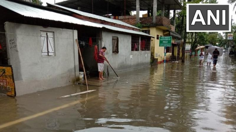 'A couple of houses have also submerged in water. There is water-logging everywhere. The situation has become worse in the last two days,' said a local. (Photo: ANI)