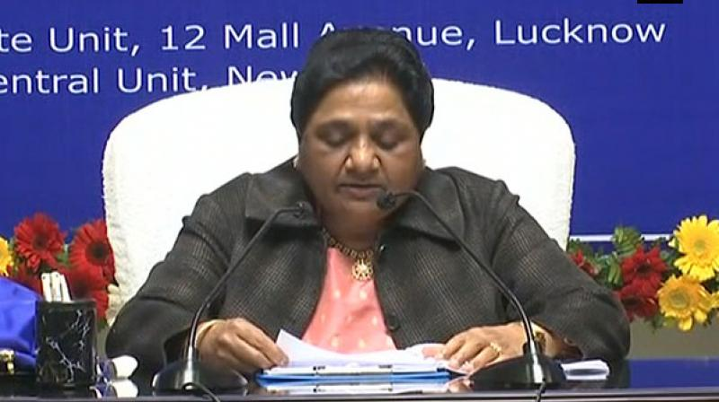 Mayawati strong statement came after 14 Aligarh Muslim University students were booked for sedition on Tuesday night and the Madhya Pradesh government imposed the National Security Act on Muslims on charges of cow slaughter earlier in the month. (Photo: ANI)