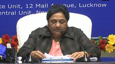 Mayawati blames Rajashtan's ruling Congress for delayed