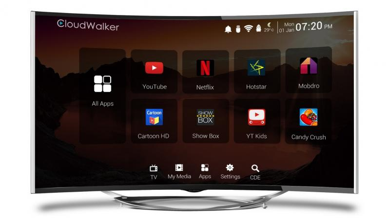 The TV has a 4K curved panel and its Android-based smart features are a cakewalk for content discovery.