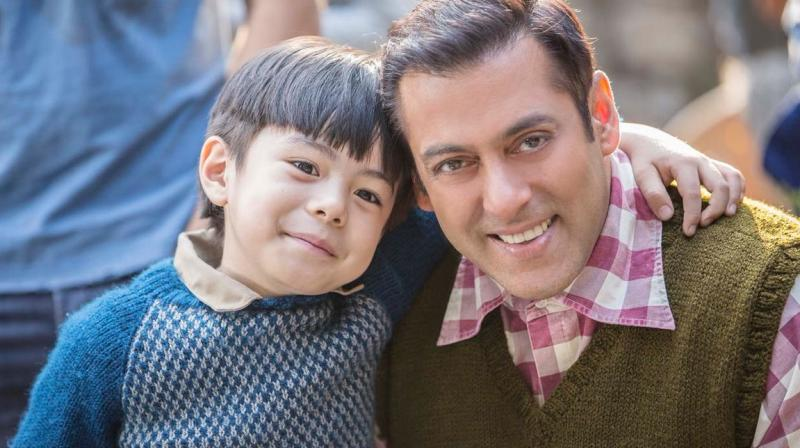 The picture with his 'Tubelight' co-star Matin Rey Tangu that Salman shared on Twitter.
