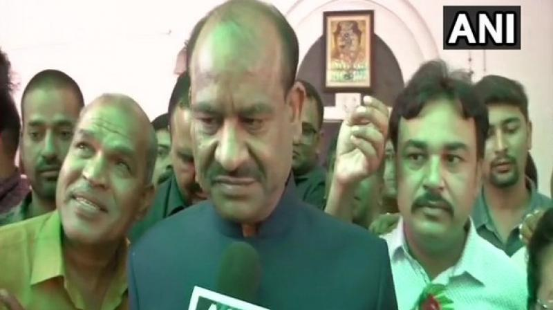 Asked whether it was going to be tough for him to run the Lok Sabha amid religious chants, Om Birla said, 'There is no challenge'. (Photo: ANI)