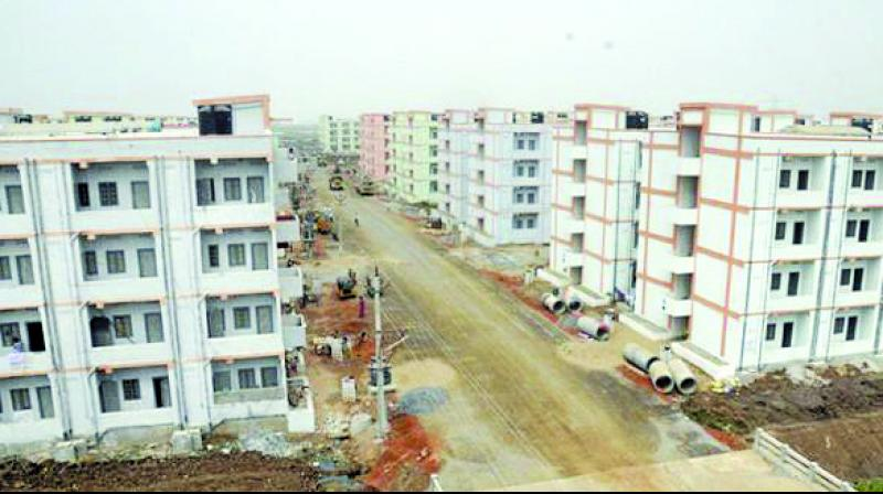 These homes are being constructed for the economically weaker section.
