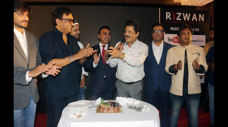 Udit Narayan during trailer and music launch of Rizwan movie.