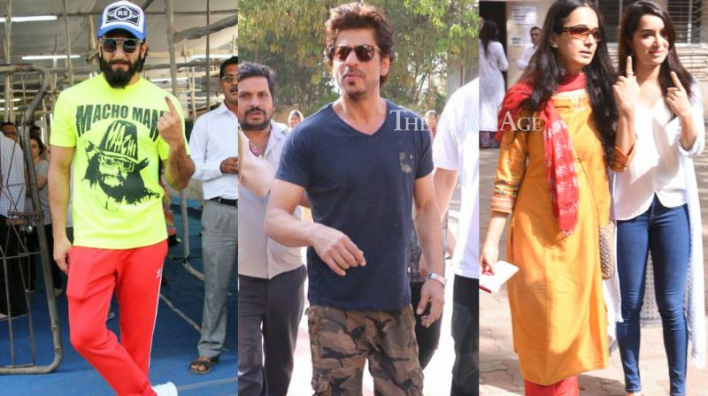 Bollywood stars were snapped in Mumbai as they exercised their votes for the BMC polls on Monday. (Photo: Viral Bhayani)