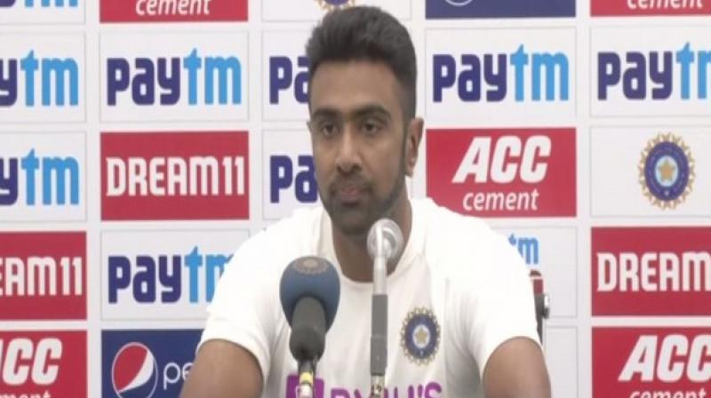 India bowling all-rounder Ravichandran Ashwin hailed Bangladesh's 'very very brave' decision to bat after winning the toss in the first Test match here on Thursday. (Photo:ANI)