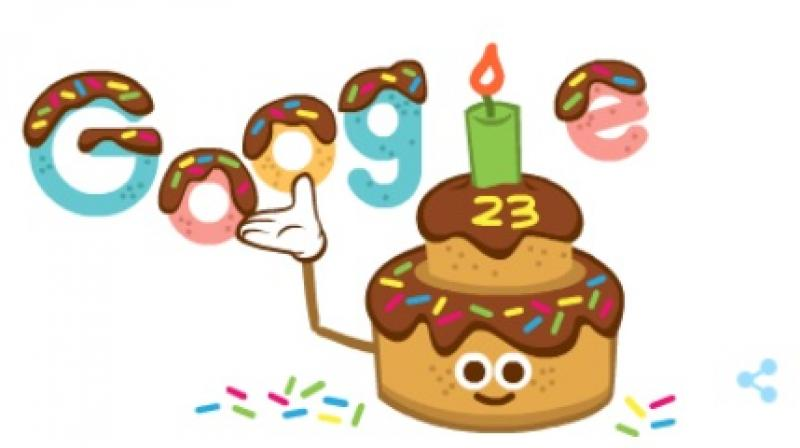 Marking the special occasion, the company unveiled a special cake-themed doodle on its homepage.