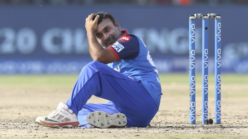 Mishra was adjudged out for obstructing the field in the final over of the innings with Delhi needing two runs off three balls. (Photo: AP)