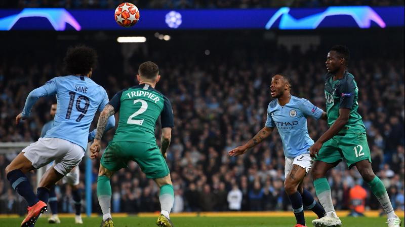 Guardiola said he continued to back the use of VAR, which also allowed Fernando Llorente's decisive goal for Spurs despite suspicions of handball. (Photo: AFP)