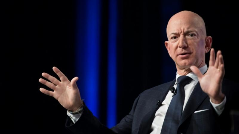 The National Enquirer had previously also obtained racy texts from Amazon CEO Jeff Bezos, to his mistress, Lauren Sanchez. (Photo: AFP)