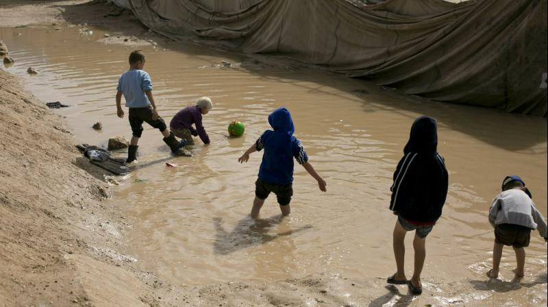 According to Belgian media reports, 50-60 Belgian children under 18 are in the camps of Al-Hol, Roj and Ain Issa in Syria. (Photo: AP)