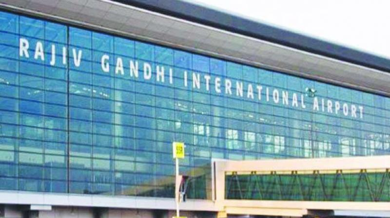 The Rajiv Gandhi International Airport.