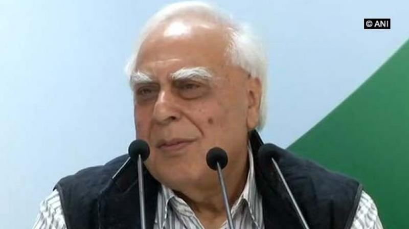 Congress leader Kapil Sibal said, 'Our country's custodians are busy advising us to make 'pakodas'. Today the situation is such that the custodian is sleeping and the thief has run away.' (Photo: ANI)