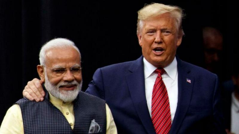 Trump, who was speaking at the NRG stadium to over 50,000 Indian-Americans, said that America is committed to ensure Indians have access to the finest goods in the world, products stamped with the beautiful phrase 'Make in USA'. (Photo: PTI)