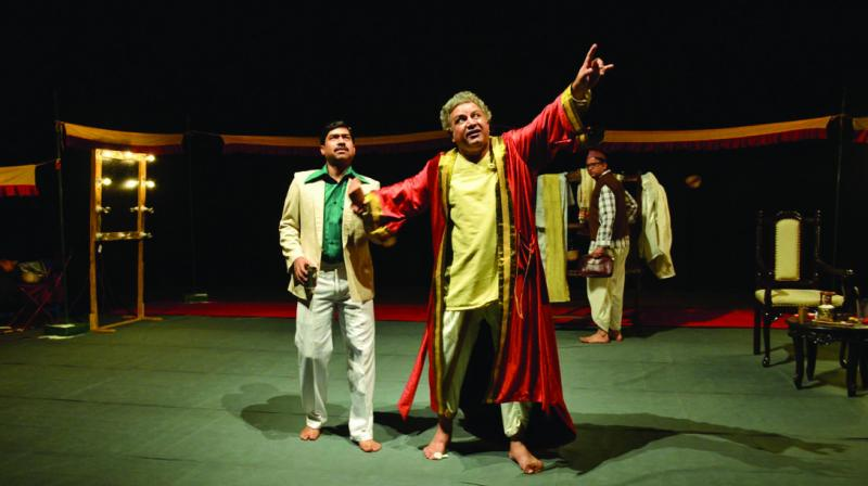 In what forms a premise of the playwright and director Abhishek Majumdar's meta-play Kaumudi (Moonlight), varied themes come together to pose questions about ethics and the medium of theatre.