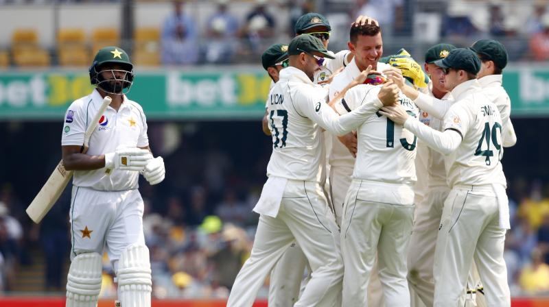 Pakistan openers Azhar Ali and Shan Masood reached 57 without loss on the opening day of the first cricket Test against Australia at the Gabba in Brisbane on Thursday. (Photo:AP)