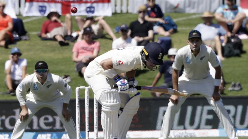 Rory Burns made the most of an early let-off to lead England through a patient opening session to be 61 for one at lunch on day one of the first Test against New Zealand in Mount Maunganui on Thursday. Burns, who shared in an initial stand of 52 with debutant Dom Sibley, was not out 35 with Joe Denly on four. (Photo:AP)