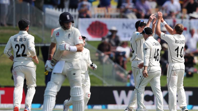Joe Root's misfiring year continued when he was out for two in an otherwise satisfactory start for England in the first Test against New Zealand in Mount Maunganui on Thursday. (Photo:AFP)