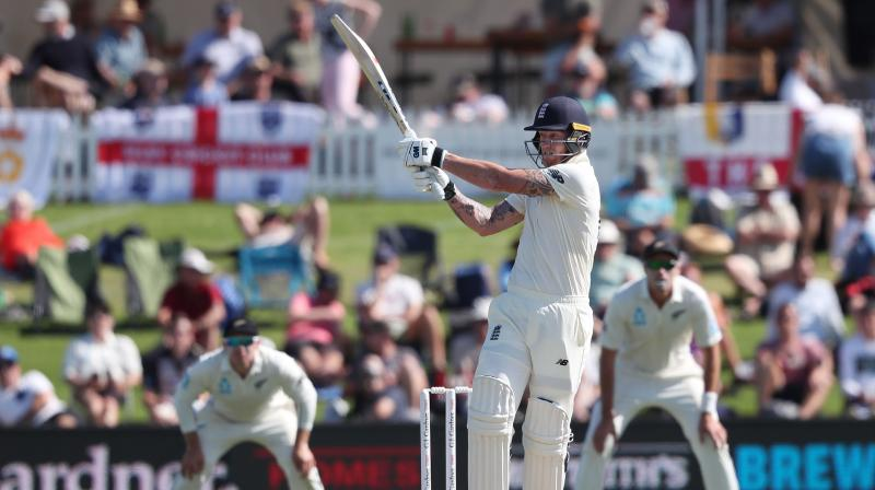 New Zealand targeted the wicket of 'freak' Ben Stokes on Thursday as they battle to get back into the first Test against England at Mount Maunganui. (Photo:AFP)