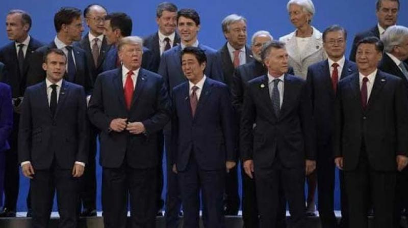 The first day of the G20 summit offered glimmers of hope for progress between Washington and Beijing despite Trump's earlier threat of new tariffs, which would increase tensions already weighing on global financial markets.(Photo: AFP)