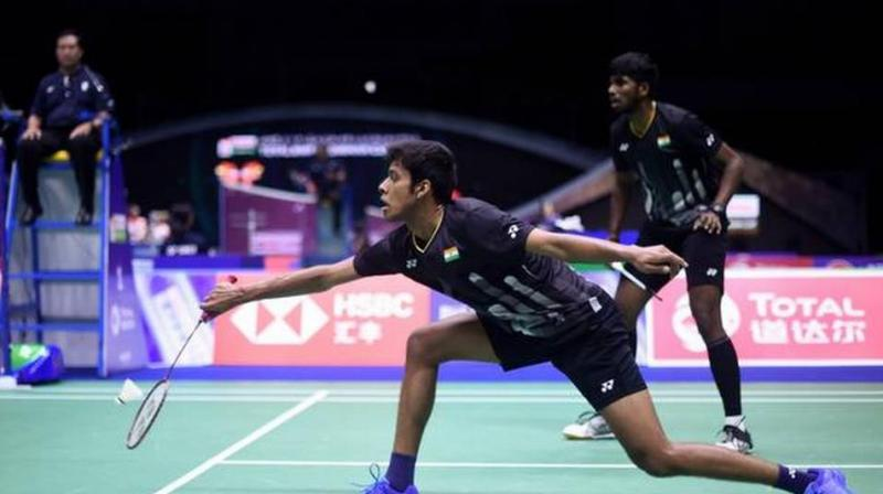 Satwiksairaj Rankireddy and Chirag Shetty will take on top seeds and world no.1 Marcus Fernaldi Gideon and Kevin Sanjaya Sukamuljo of Indonesia in the semifinals on Saturday. (Photo: AFP)