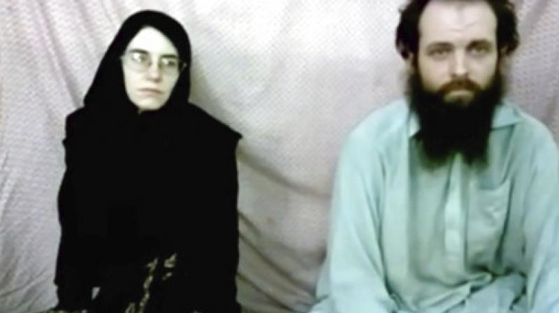 This still image made from a 2013 video released by the Coleman family shows Caitlan Coleman and her husband, Canadian Joshua Boyle in a militant video given to the family. (Photo: AP)