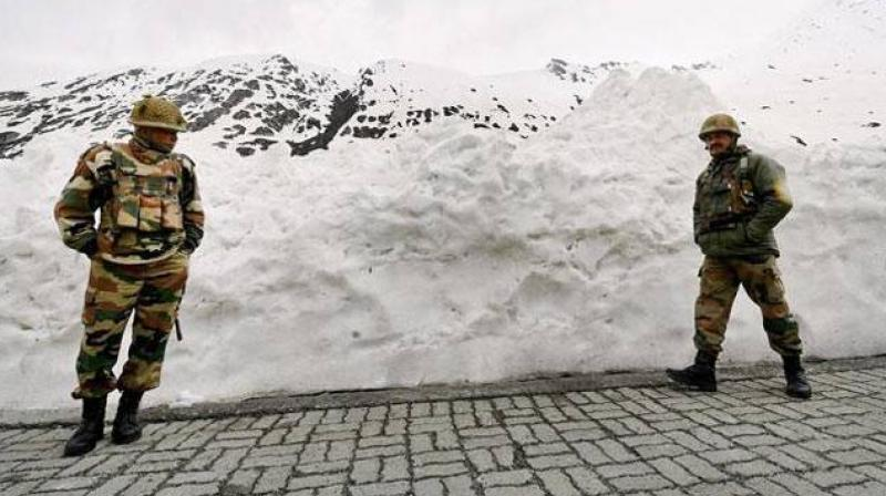 The decision to raise such a military-style combat wing in the paramilitary was taken after the Union home ministry recently approved deployment of snow scooters at all the high-altitude border outposts of the mountain-warfare trained force along the 3,488-km long frontier it guards. (Photo: Representational/PTI)