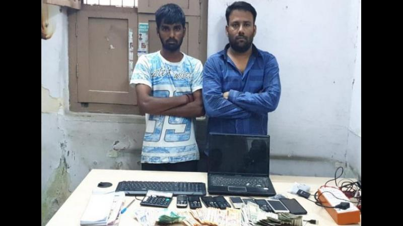 Hyderabad Police on Sunday busted a cricket-betting racket and apprehended two people in connection with it. (Photo: ANI)