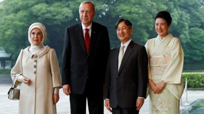 Turkey's First Lady Emine Erdogan recently attracted criticism after she was spotted carrying a handbag that was priced USD 50,000 during her trip to Japan with President Recep Tayyip Erdogan. (Photo: ANI)