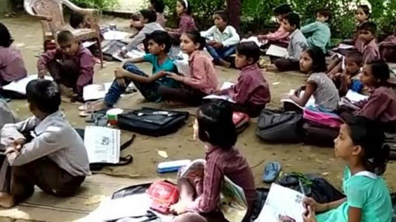Couple of months ago, a large tin shade worth Rs 6 lakh, covering a 45 foot by 75 foot area was erected in the school which brought an instant respite to the students during the peak summer months. (Photo: ANI | Representative)