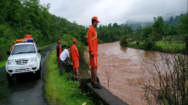 The search operation by the National Disaster Response Force (NDRF) for four missing persons entered the fifth day here on Sunday in the wake of a breach in Tiware Dam which has claimed 19 lives. (Photo: ANI)