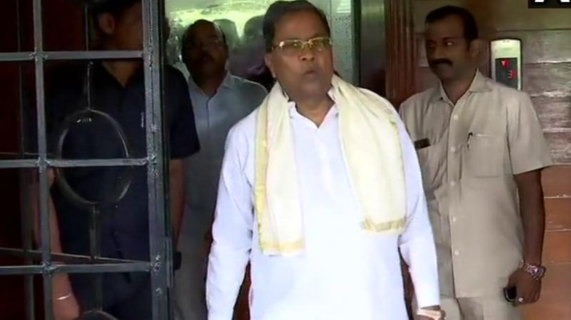 Siddaramaiah, who is the leader of opposition in the state Assembly, said: