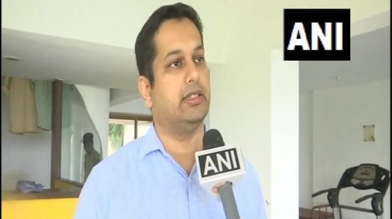 BJP leader and son of late Goa Chief Minister Manohar Parrikar, Utpal Parrikar, on Thursday sent out a note of caution on the ten Congress MLAs joining the BJP bandwagon by saying their loyalty is under a cloud. (Photo: ANI)