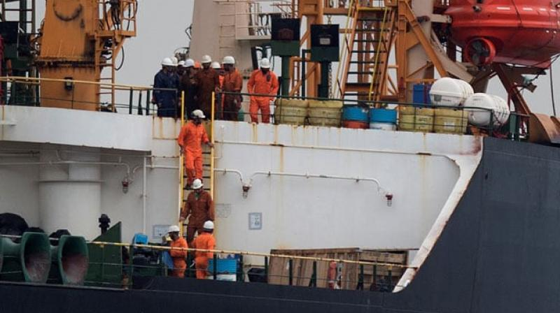 Iranian oil supertanker seized off the Spanish coast last week have been freed on bail without charge, the Royal Gibraltar Police said on Saturday. (Photo: AFP)