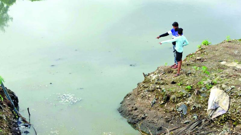 Amit Jaiswal had gone to play near the nullah with his 12-year-old brother and he lost his balance while trying to catch a crab.