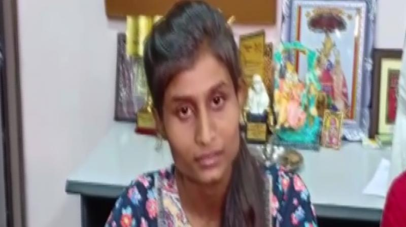 Richa Bharati, the girl who was asked by a court to distribute copies of Quran as a bail condition, said on Wednesday that she would take action against the people who filed a complaint against her for allegedly posting communal comments on social media. (Photo: ANI)