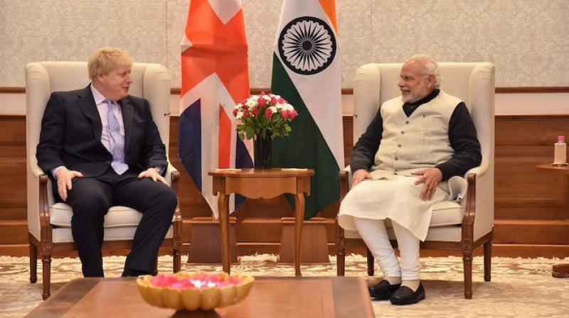 Prime Minister Narendra Modi on Wednesday congratulated Boris Johnson on becoming the new Prime Minister of the United Kingdom. (Photo: Twitter/ @narendramodi)