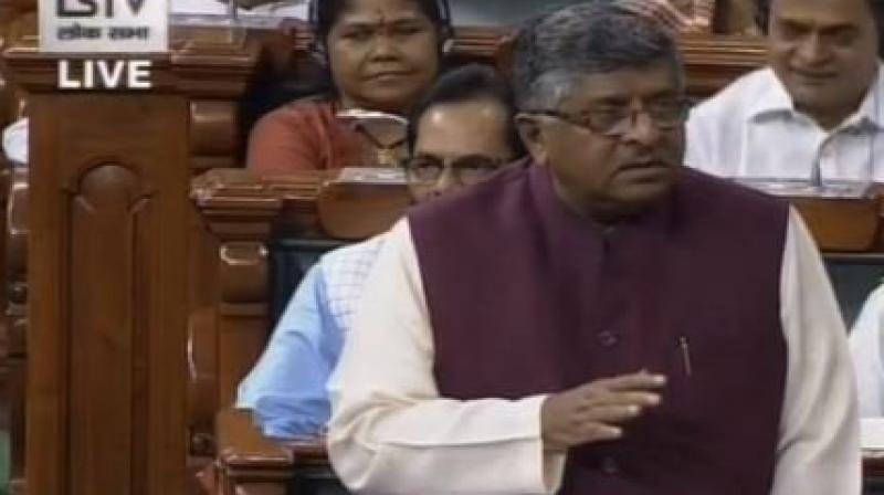 Minister of Law Ravi Shankar Prasad. (Photo: File)