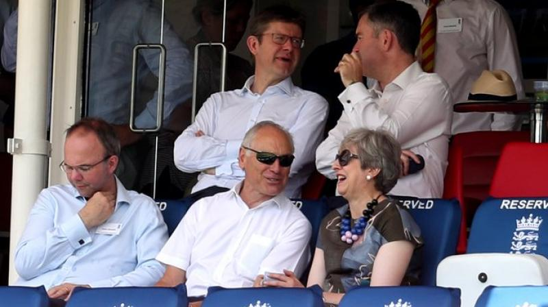 Former British prime minister Theresa May skipped seeing her successor fire up Conservative MPs on Thursday and instead spent her first day out of office enjoying one of her favourite pastimes – cricket. (Photo: Twitter)