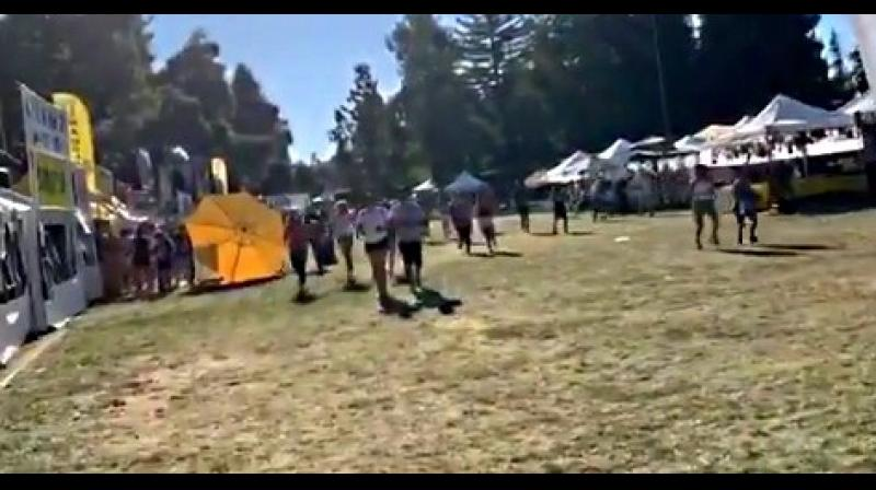 A shooting at a major food festival in the US state of California caused multiple casualties on Sunday, police said. (Photo: screengrab/Twitter)