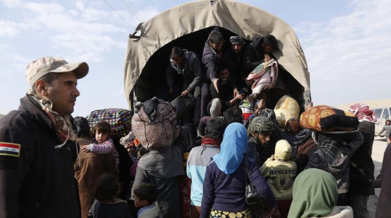 Tens of thousands of people have streamed out of west Mosul since February 25. (Photo: Representational/AFP)