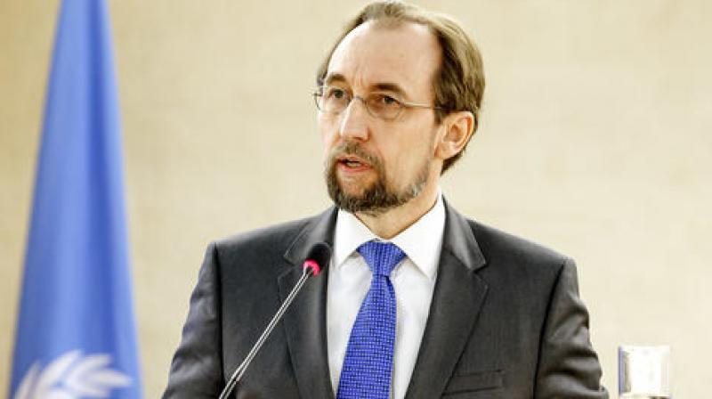 In an address to the UN's top rights body, Zeid said that his office had been refused access to the country. (Photo: AP)